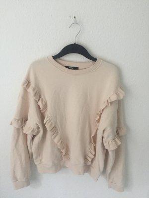 Bik Bok Sweatshirt mit Volants Beige
