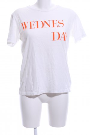 Bik Bok T-Shirt white-light orange printed lettering casual look