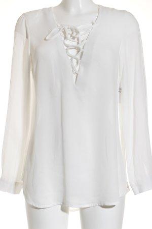 Bik Bok Blouse transparente blanc cassé style décontracté