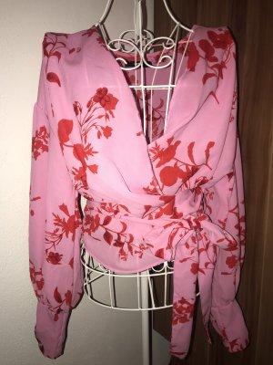 Bik Bok Wikkelblouse roze-rood