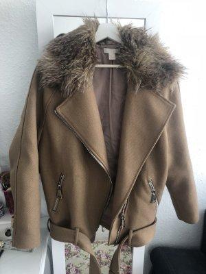 Biker/Blogger Stil Jacke aus H&M in Beige Stoff