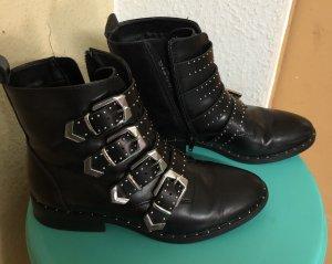 Catwalk Chelsea laarzen zwart-zilver