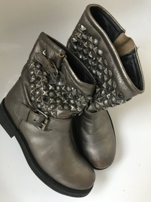 ASH Bottines à enfiler gris brun cuir