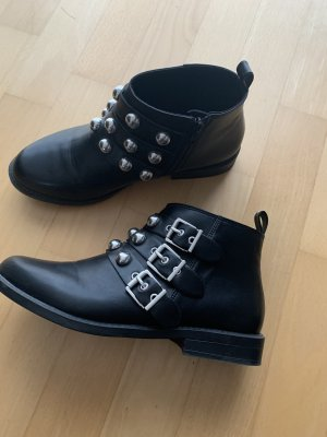 H&M Enkellaarzen zwart-zilver