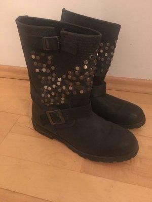 Buffalo Chelsea Boot noir cuir
