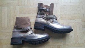 Biker Boots metallic