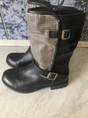 Graceland Halfhoge laarzen zwart-zilver