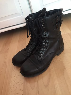 Low boot noir-rouge