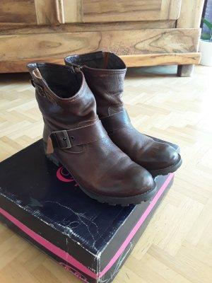 Biker boots von Buffalo braun Echtleder Größe 40
