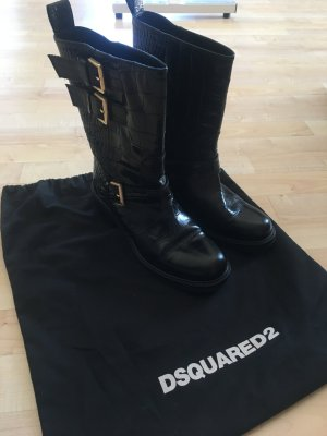 Dsquared2 Buskins black leather