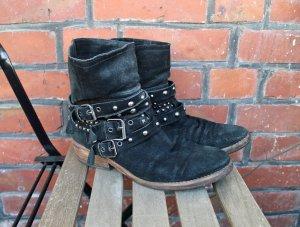 Biker Boots / Wildleder / Nieten Boots