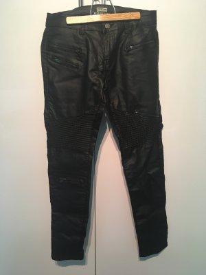 Biker Hose in schwarz