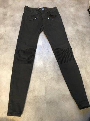 Zara Pantalon cigarette gris anthracite-gris foncé