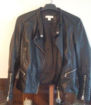 H&M Bikerjack zwart-zilver