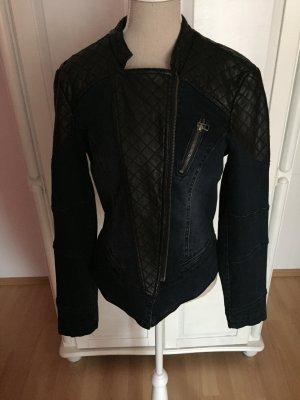 Biker-Jacke in Jeansoptik