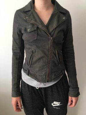 Biker-Jacke in Khaki 36