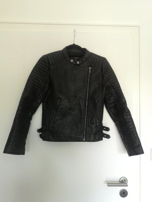 Mango Biker Jacket black-silver-colored
