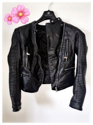 Zara Faux Leather Jacket multicolored