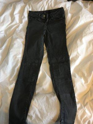 Zara Jeans de moto gris foncé