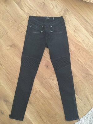 Biker Jeans black tigha