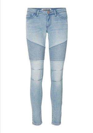 Noisy May Biker Jeans light blue