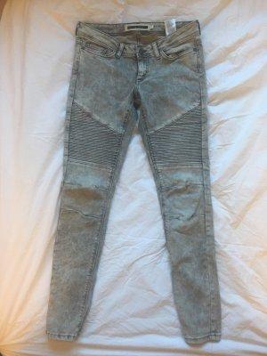Biker Jeans, grau von Vero Moda (Noisy may)