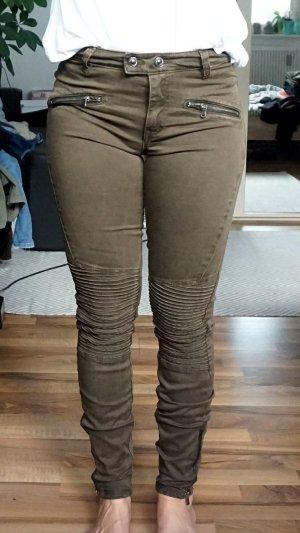 Biker Jeans khaki