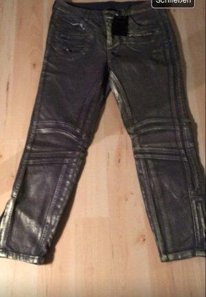 Biker Jeans Neu Gr 19 (38/40) Gold