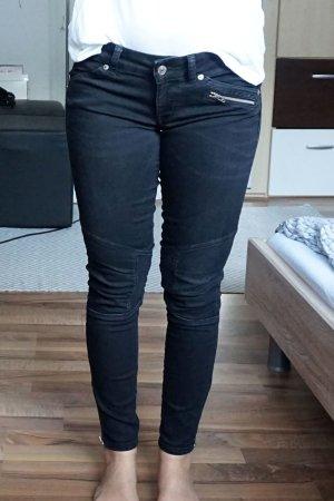 Biker Jeans schwarz