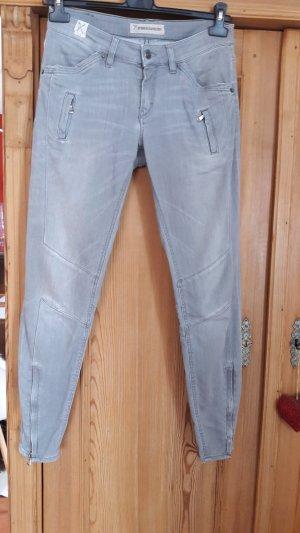 Drykorn Jeans da motociclista argento Cotone