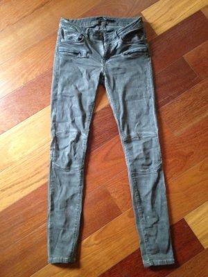 Biker-Jeans von Zara Woman 36