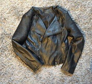 Biker (Kunst-) Lederjacke schwarz von Madonna Größe L