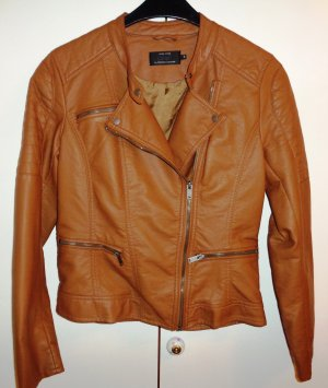 Only Biker Jacket brown synthetic material