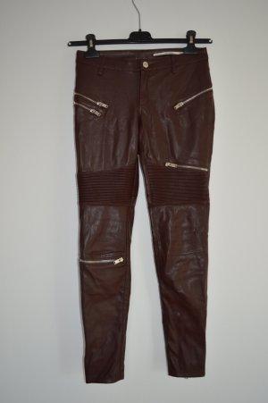Biker-Lederhose in rost-rot Gr.XS