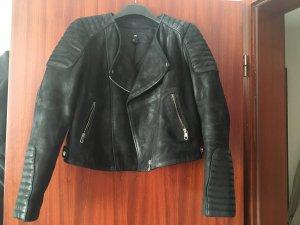 Biker-Lederjacke  aus echtem Leder