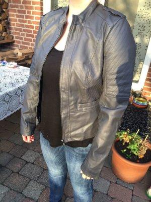 Biker-Lederjacke grau von vero moda