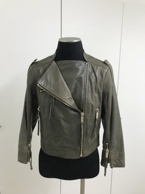 Biker Lederjacke Khaki Matthew Williamson for H&M