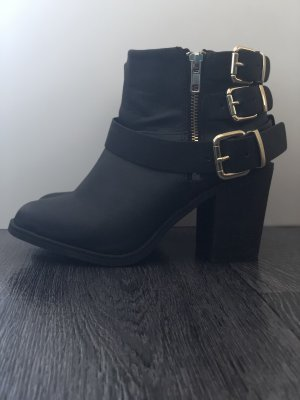 H&M Booties black-gold-colored