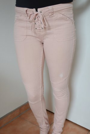 Biker-Stil - Hellrosa - Jeans - Gr.10