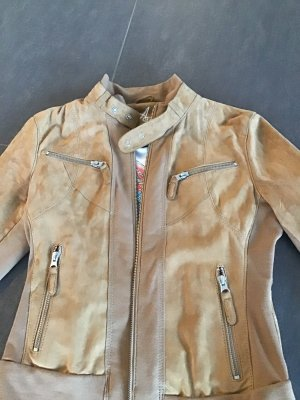 Arma Collection Veste en cuir chameau