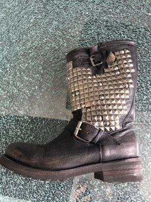 ASH Biker Boots black-light grey leather