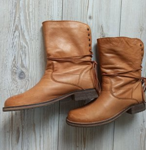 5th Avenue Ankle Boots cognac-coloured leather