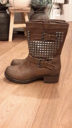 Boots brown-cognac-coloured