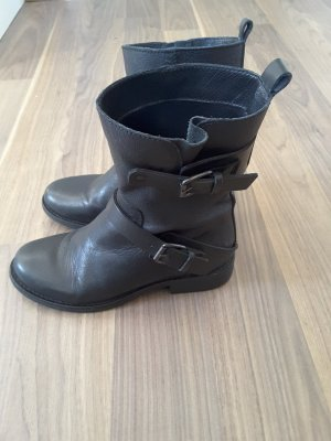 Mango collection Boots black leather