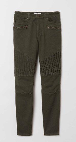 H&M Vaquero de motero caqui-gris verdoso
