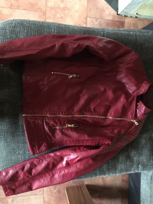 Vestino Biker Jacket carmine imitation leather