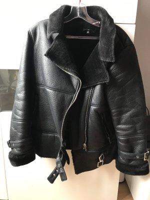 Missguided Chaqueta de motociclista negro