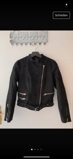 Mango Bikerjack zwart
