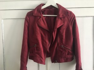 H&M Biker Jacket purple imitation leather