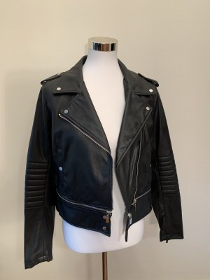 Zara Chaqueta de motociclista negro